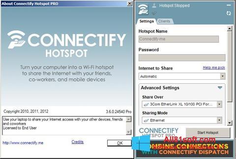 Posnetek zaslona Connectify Windows 8.1