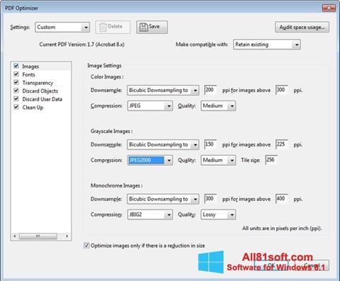 Posnetek zaslona Adobe Acrobat Pro DC Windows 8.1