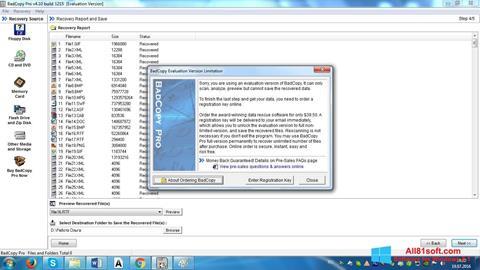Posnetek zaslona BadCopy Pro Windows 8.1