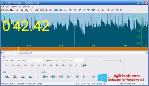Posnetek zaslona mp3DirectCut Windows 8.1
