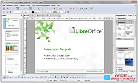 Posnetek zaslona LibreOffice Windows 8.1