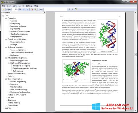 Posnetek zaslona Sumatra PDF Windows 8.1