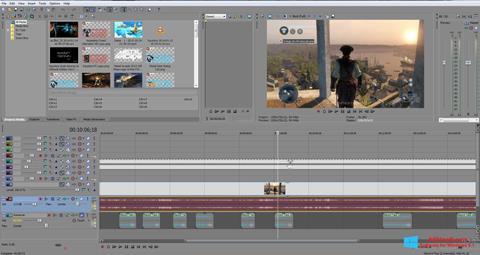 Posnetek zaslona Sony Vegas Pro Windows 8.1