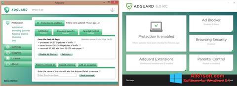 Posnetek zaslona Adguard Windows 8.1