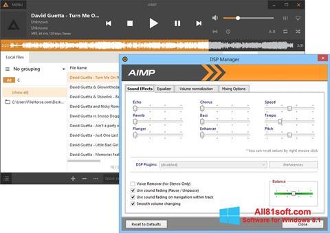 Posnetek zaslona AIMP Windows 8.1