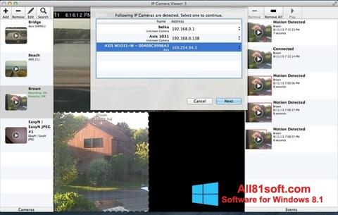 Posnetek zaslona IP Camera Viewer Windows 8.1