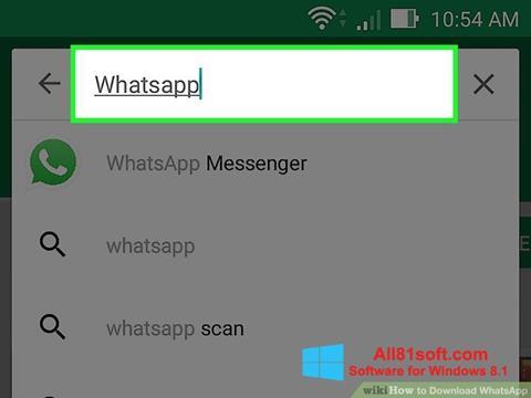 Posnetek zaslona WhatsApp Windows 8.1